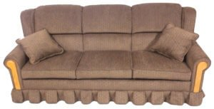 Country View Furniture 400 Series Sofa Tan Wood Front Arms